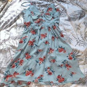 Blue floral short dress from Charlotte Russe M